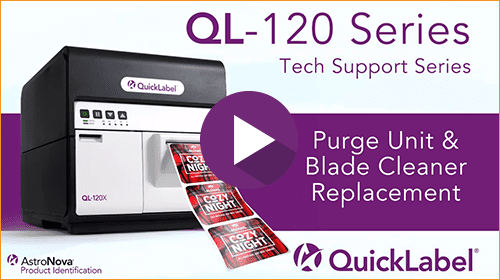 QL-120 Series: Purge Unit and Blade Cleaner Replacement