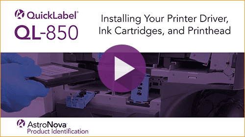 QL-850 Tech Support Series: Install Printer Driver, Ink Cartridges, and Printhead