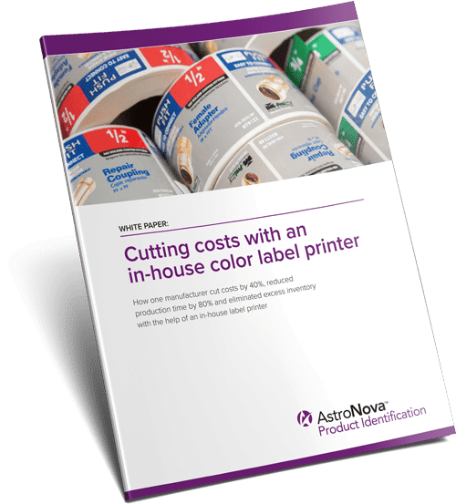 Cutting costs with an in-house color label printer